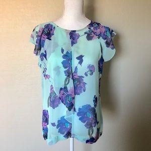 Liz Claiborne- medium- floral flowy Top
